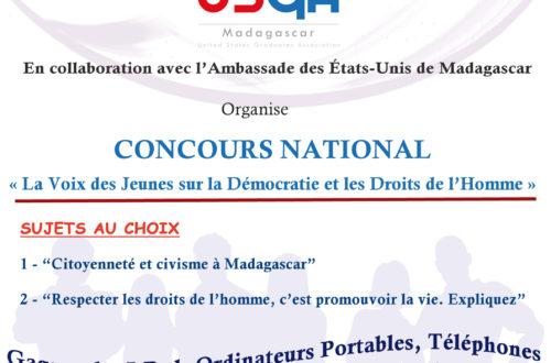 Article : Concours National – Démocratie et Droits de l'Homme – pour les Lycéens Malagasy